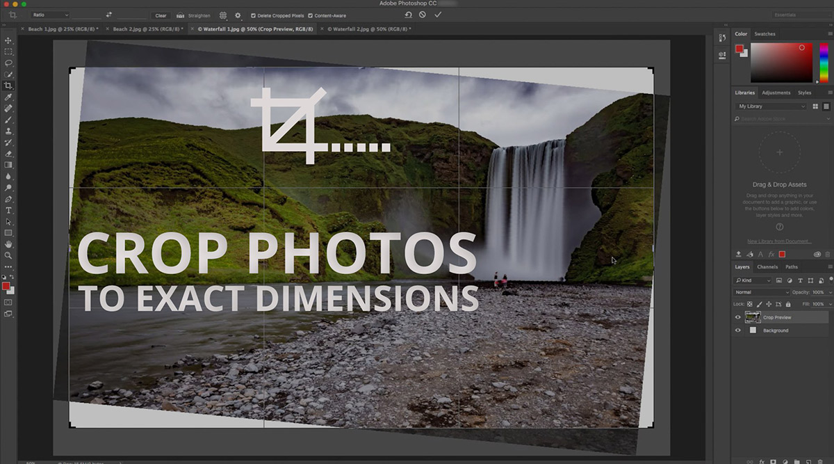 How to Crop & Resize a Photo to Exact Dimensions using Photoshop