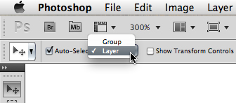 Move tool options in Photoshop